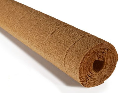 Italian Crepe Paper 180gms, Full roll 50cm x 250cm - Yellow Earth (611)