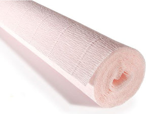 "Italian Crepe Paper 180gms, Full roll 50cm x 250cm - Pink ""Very Light Dusty Pink"" by Tiffanie Turner (616)"