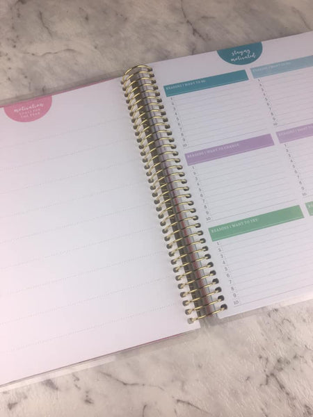 Recollections - Medium - Pursue Your Goals Spiral Planner