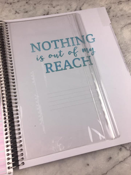 (***Oops***) Recollections - Large - Dreams Goals Spiral Planner