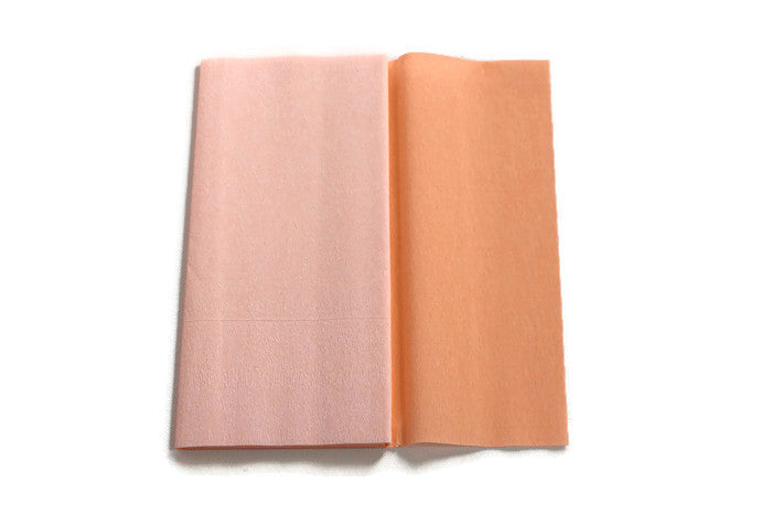Gloria Doublette Crepe paper / Double sided crepe paper - Apricot & Light Apricot