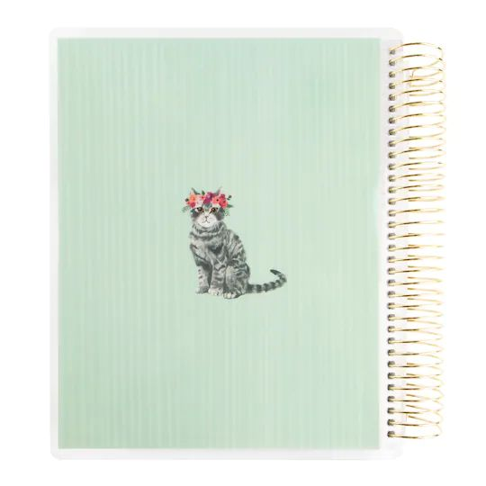 Recollections - Medium - Flower Cat Spiral Planner