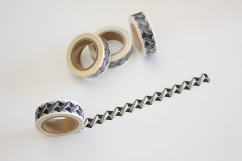 Black Geometric Print Washi Tape