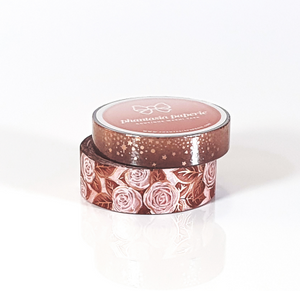 Blush Roses Washi Tape Duo - with Rose Gold Foil Accents