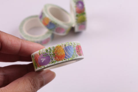 Bright and Colourful Easter Eggs Washi Tape
