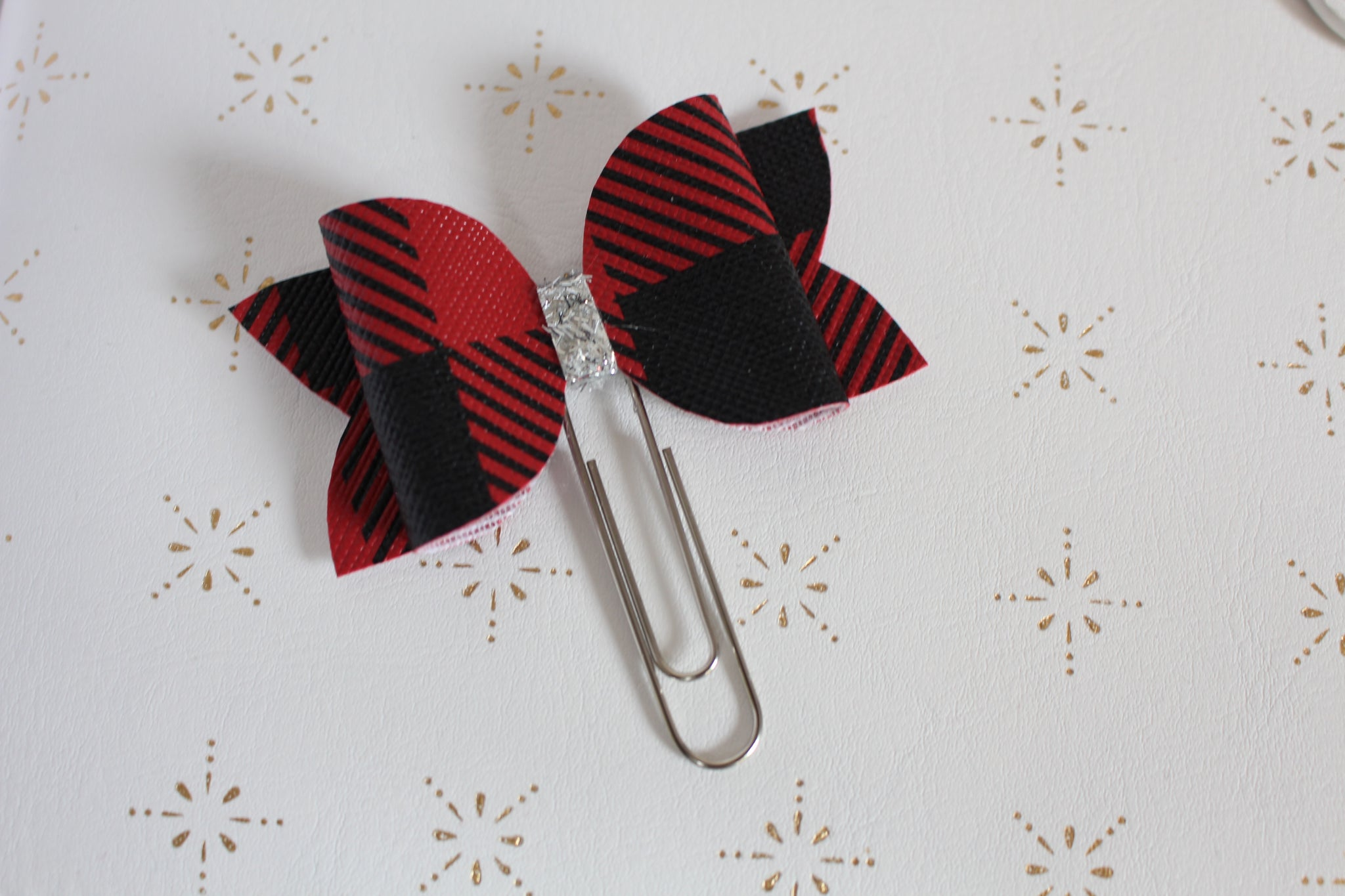 Buffalo Plaid Planner Bow Clip