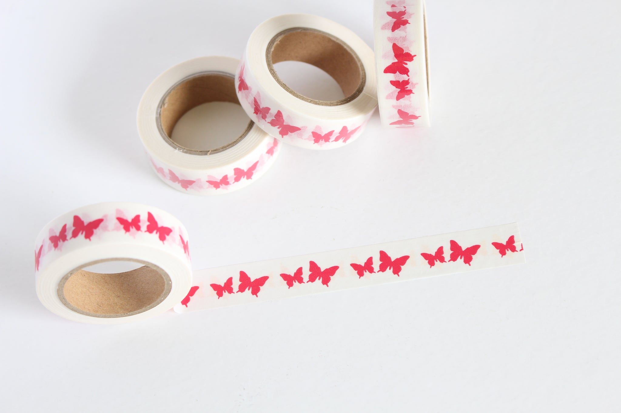 Red Butterfly Print Washi Tape