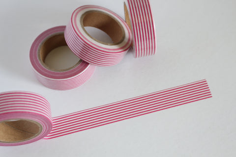 Peppermint Candy Cane Stripes Washi Tape