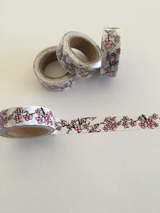 Cherry Blossom Washi Tape with Gold Foil Accents