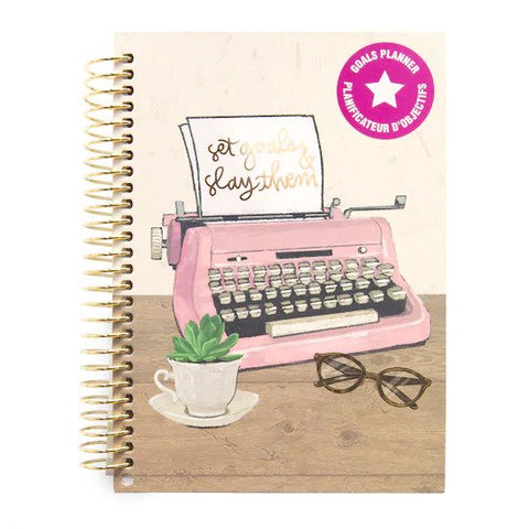 Recollections - Typewriter Mini Goal Hardcover Spiral Planner