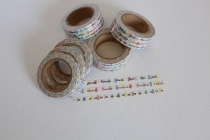 Date Day Month Skinny Washi - Set of 3