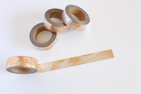 Dazzling Copper Washi with flecks