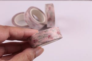 Delicate Pink Floral Washi Tape