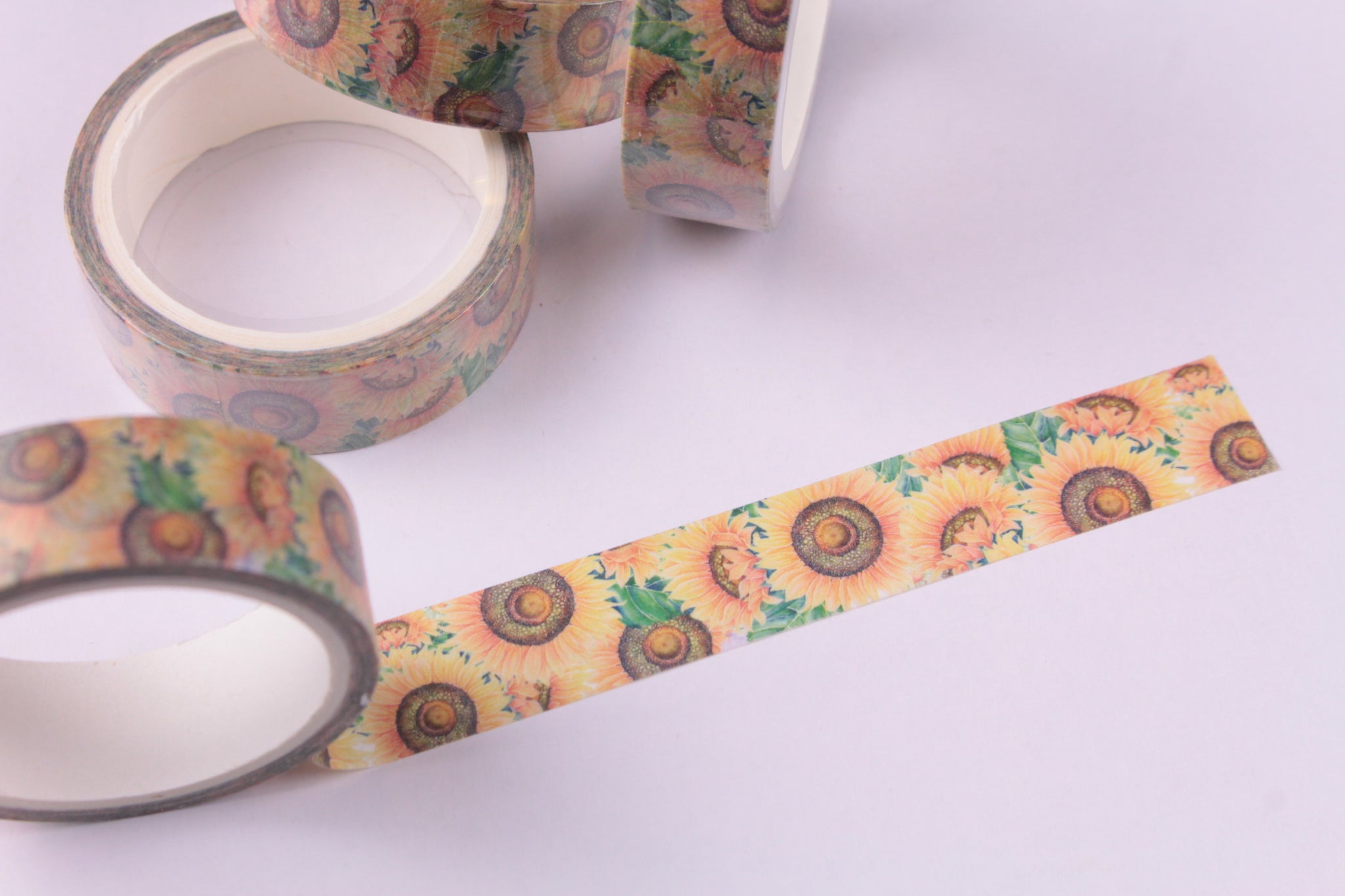 Distressed Sunflowers Washi Tape