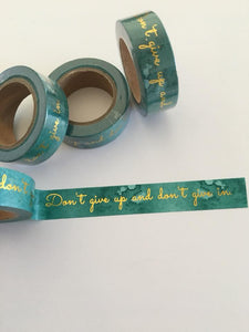 Gold Foil Quotes Washi Tape