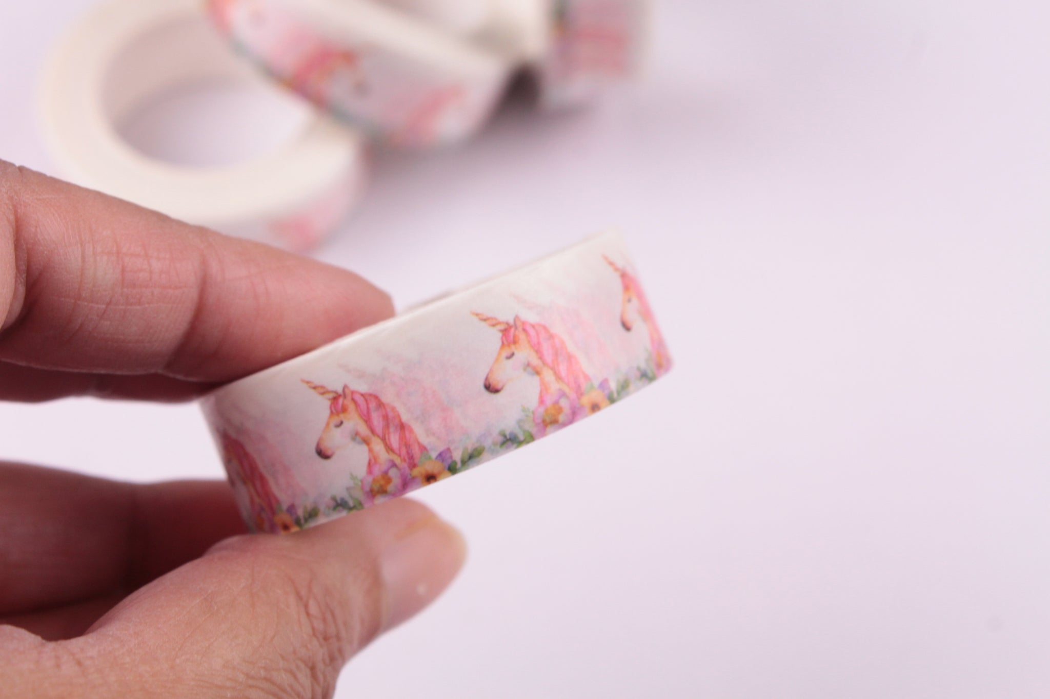 Unicorn Washi Tape, Unicorn and flowers washi tape