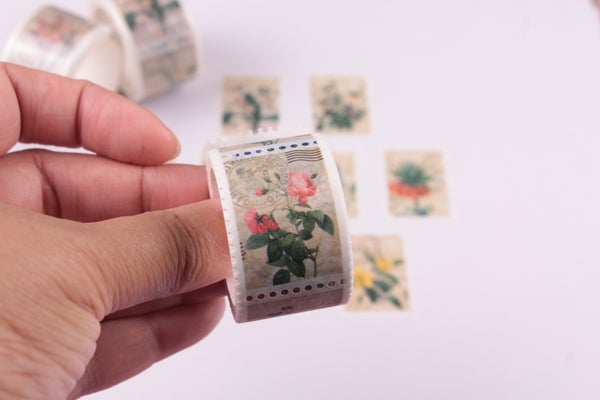 Floral stamps Washi Roll