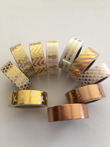 Mixed Foil Washi Tape Set of 10