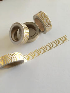 Gold Foil Arcs Washi