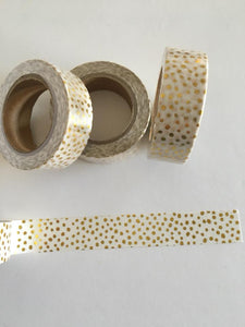 Gold Foil Dots Washi