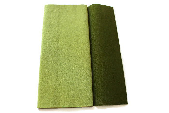 Gloria Doublette Crepe paper / Double sided crepe paper - Green Tea & Cypress