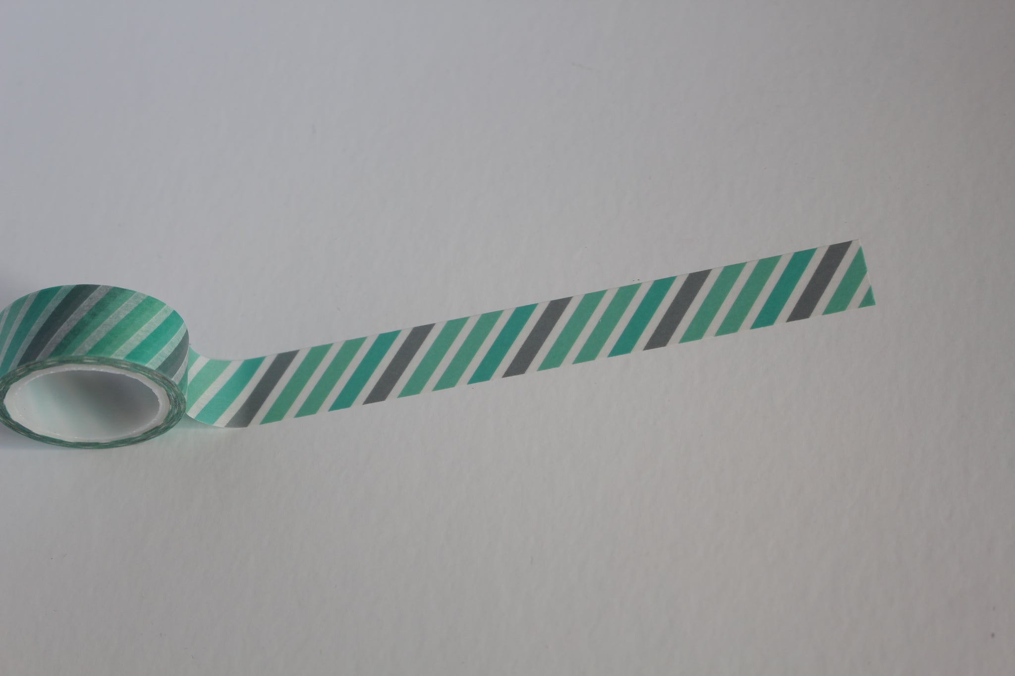 Green and Grey Stripes Washi
