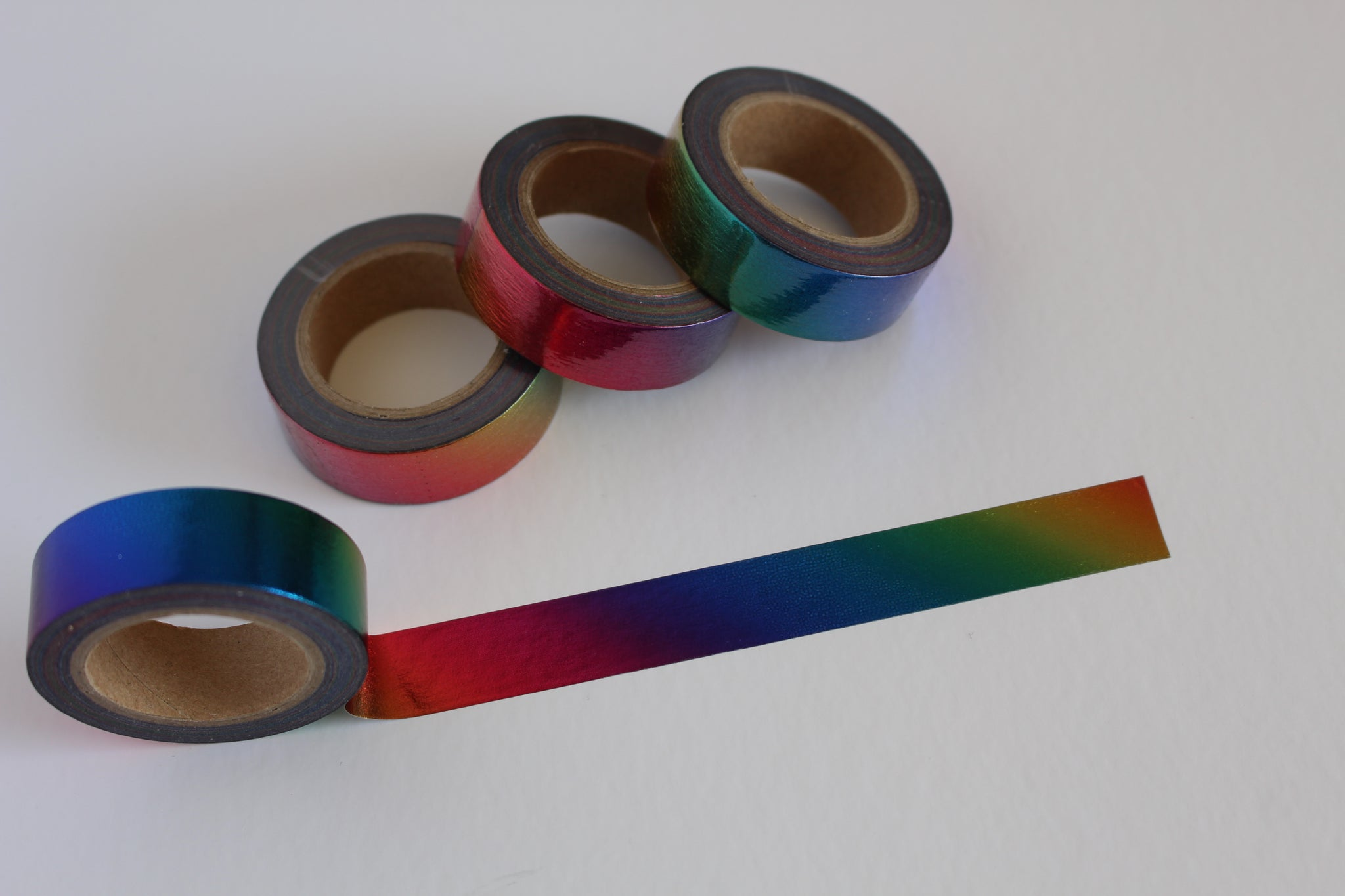 Holographic Rainbow Foil Washi