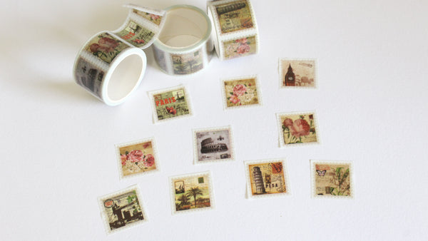 Tear Apart Vintage Print Stamps Washi Tape