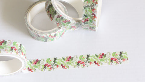 Watercolor Christmas Floral Washi Tape