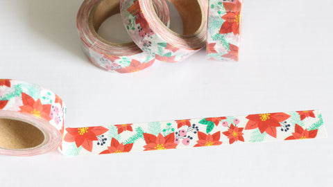 Christmas Poinsettia Washi Tape