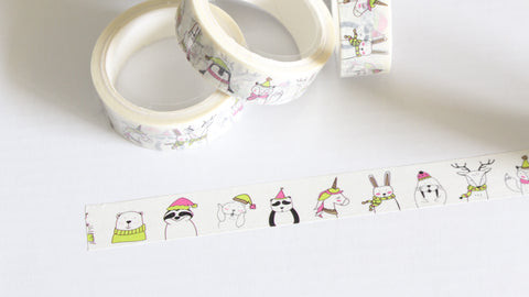 Christmas Creatures Washi Tape