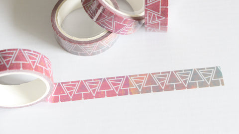 Geometric Christmas Trees Washi Tape