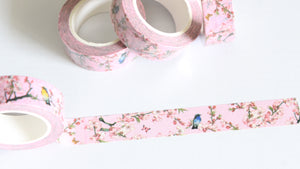 Spring Flowers and Birds Washi Tape