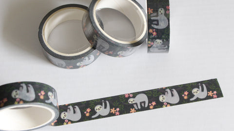 Cute Sloths Washi Tape