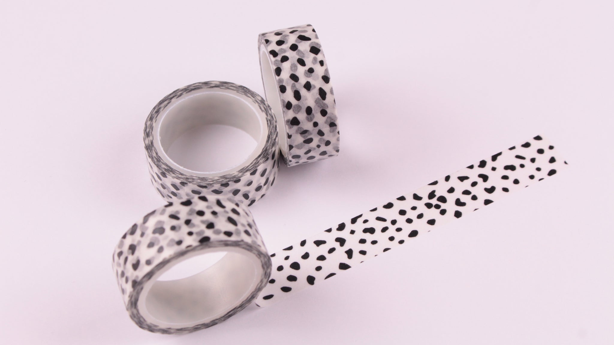 Black on White Dalmation Spots Washi Tape