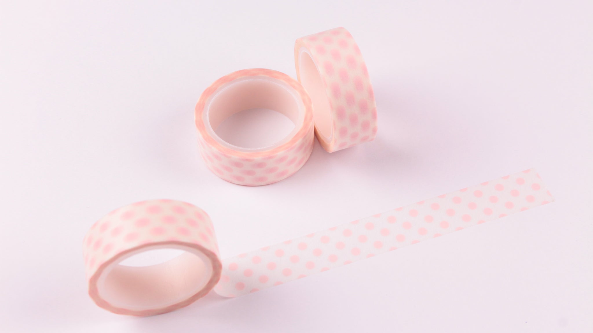 Pastel Pink Polka Dots Washi Tape