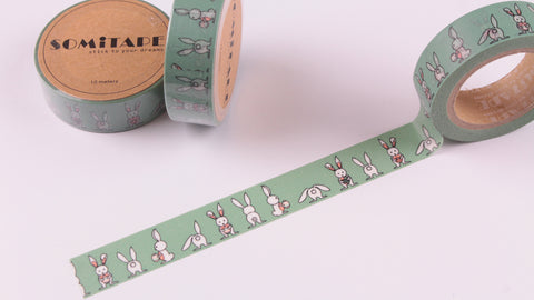 Easter Bunnies Washi Tape, Easter Rabbits Washi Tape,