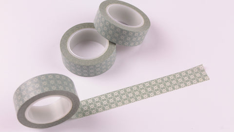 Pale Sage Green Floral Washi Tape