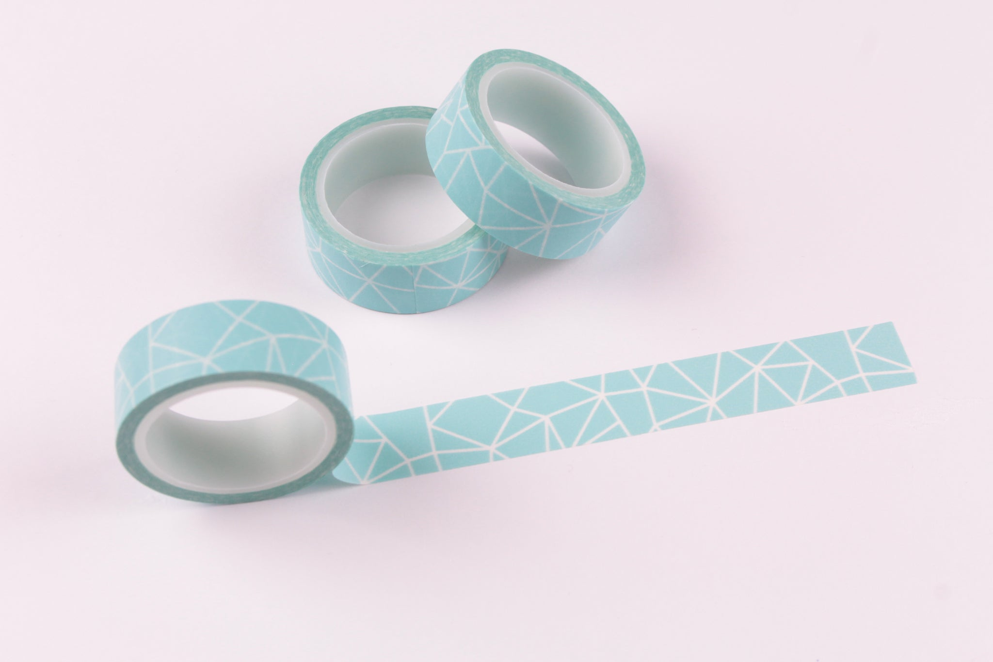 Blue Geometric Washi Tape