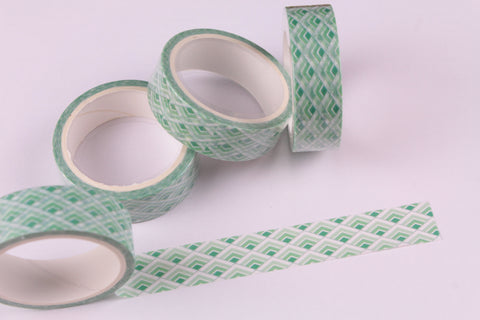 Green Geometric Washi Tape