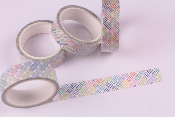 Rainbow Weave Washi Tape