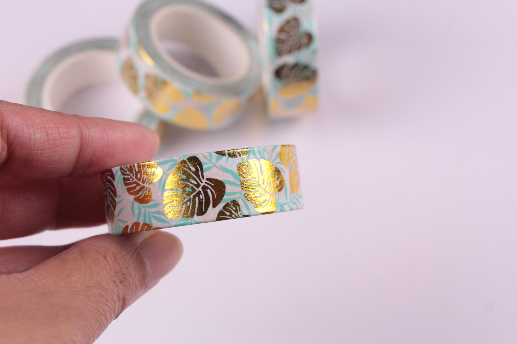 Gold Foil Monstera Leaf Washi Tape