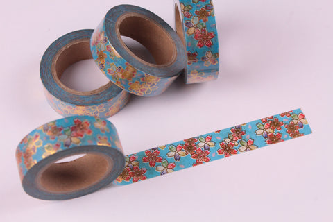 Gold Foil Japanese Sakura Washi Tape