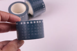 Perpetual Calendar Washi Tape - Wide Washi - 30mm