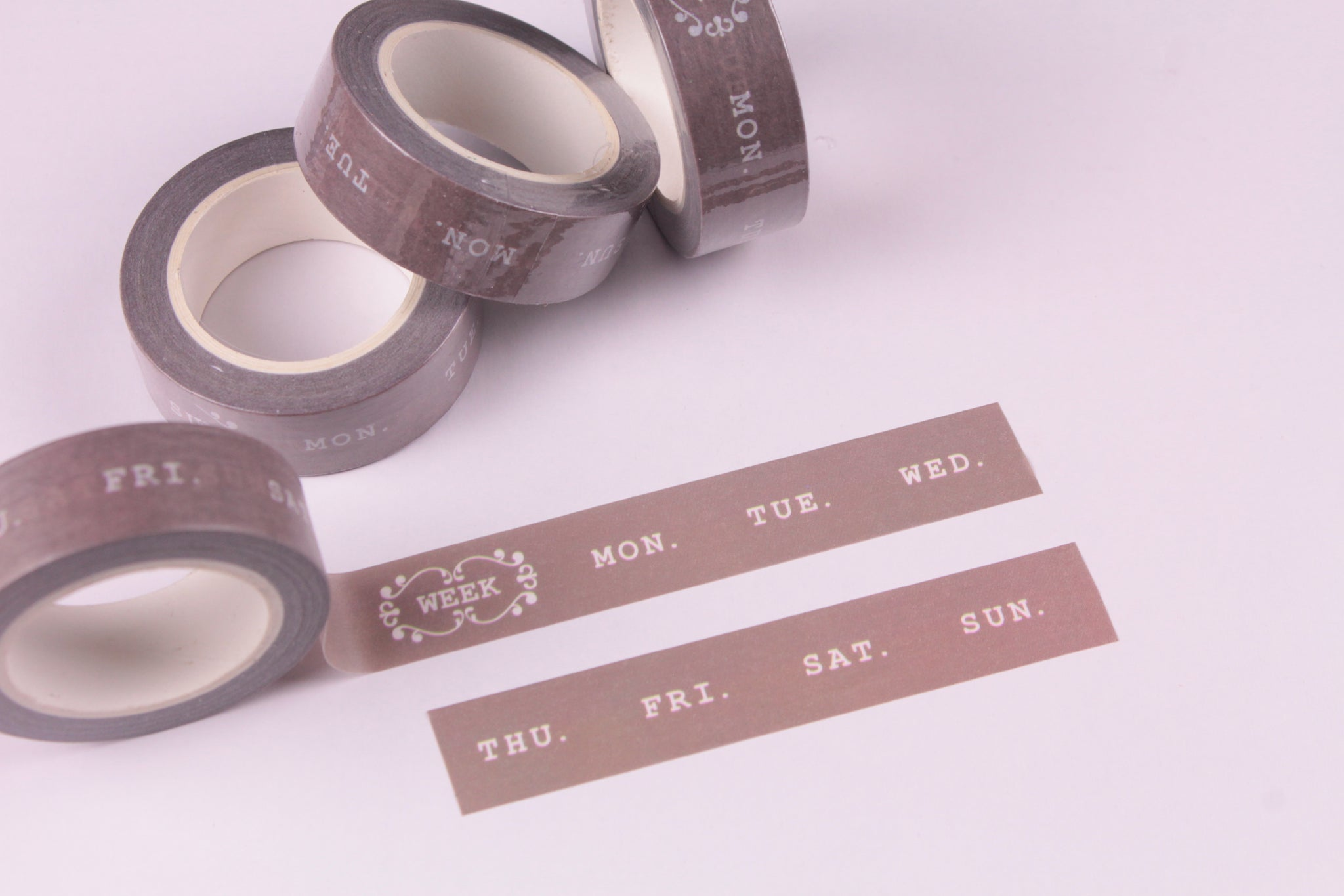 Days of the Week Washi Tape, BuJo series washi tape