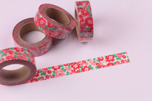Pink and Red Floral Washi tape