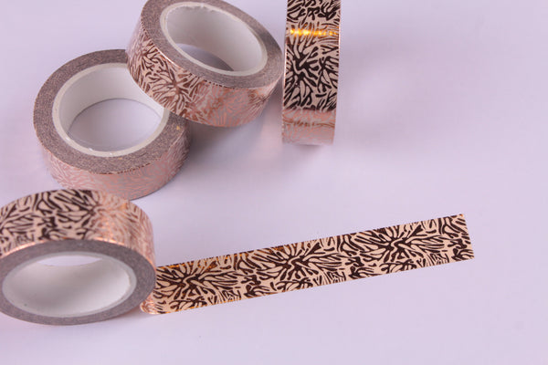 Abstract Rose Gold Foil Washi Tape