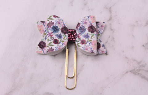 Playful Florals Planner Bow Clip