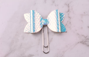 Silver Dragon Scales Planner Bow Clip