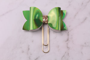 Green Patent Planner Bow Clip